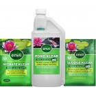 Envii Annual Pond Treatment - Pond Klear, Sludge Klear and Nitrate Klear Treat Sludge, Algae and Green Water