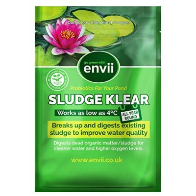 Envii Sludge Klear – Removes Pond Sludge and Unpleasant Odours Down To 4°C – Treats Up To 60,000
