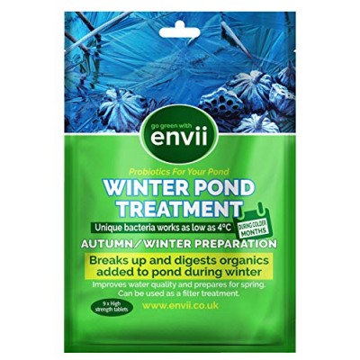 Envii Winter Pond Treatment – Winter Pond Treatment Reduces Sludge & Improves Water Clarity – Treats Up To 45,000 Litres