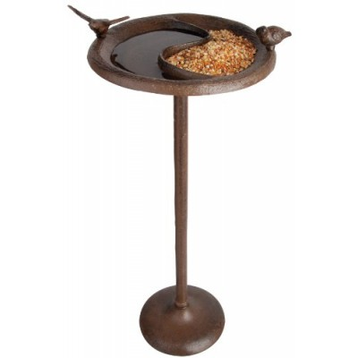 Fallen Fruits Bird Bath and Feeder on Pole