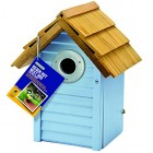 Gardman Beach Hut Bird Nest Box - Blue