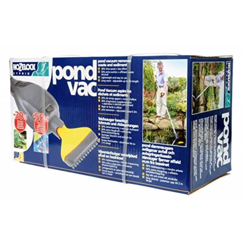 Hozelock pond vac compact lightweight extendable 2 m reach for Pond supply companies