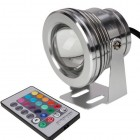LemonBest® 10W Underwater Light LED Spot Light 12V RGB Multicolor Lamp With Remote Control