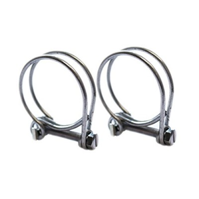 Double Wire Hose Clips to fit 25mm (1in) Pipe