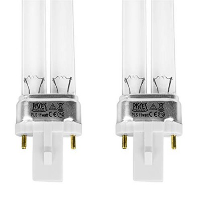 Twin Pack 11w (watt) PLS Replacement UV Bulb Lamp for Pond Filter UVC