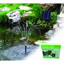 PondXpert SolarShower 250 Solar Pond Pump with Battery and LED Lights.NEW Lithium Battery. Attractive Solar Fountain.