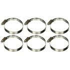 uxcell 6pcs Adjustable 44-67mm Worm Drive Hose Clamps Clips Silver Tone
