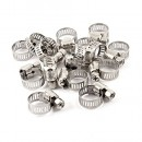 Uxcell Stainless Steel 6mm to 12mm Hose Pipe Clamps Clips Fastener, 15 Pcs